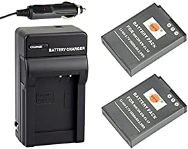 DSTE Replacement for 2X EN-EL12 Battery + DC03 Travel and Car Charger Adapter Compatible Nikon Coolpix A900 P340 S640 S800c S1000PJ S6300 S9500 AW110s W300S KeyMission 170 KeyMission 360 Camera