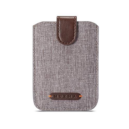 Universeller RFID-blockierender Kreditkartenhalter mit 5 Ziehen, für Handy, Brieftasche, Klebefolie, braun (Braun) - guangruiorrtyqbk3TT701832-BN