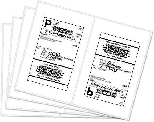 Rounded Corner Half Sheet Self Adhesive Shipping Labels for Laser & Inkjet Printers, 300 Labels