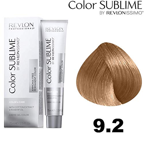 Revlon Professional Color Sublime By Revlonissimo Color&Care Ammonia Free Permanent Color 9.2, Sehr Hellblond Irisierend , 1er Pack (1 x 75 ml)