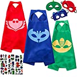 NuGeriAZ Costumes and Dress up for Kids Halloween Capes and Masks Superhero Capes Kids Best GITS (3Pcs)
