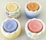 1a PartyLite - Teelichthalter OSTEREIER, SET - P93032 - H: 5cm - Keramik