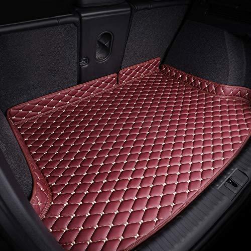 Yijiaren Krabbelmatte, kompatibel mit Peugeot 607 Häcksler Schutz Auto Kofferraummatte wasserdicht staubdicht kratzfest, rot