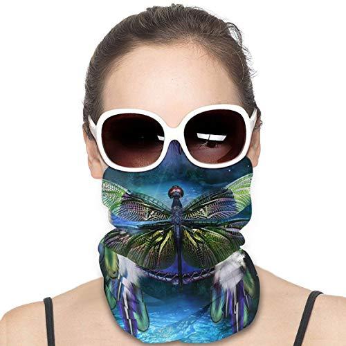 Face Mask Scarf Fairy Dragon-Fly Outdoor Bandana Washable Head Wear...
