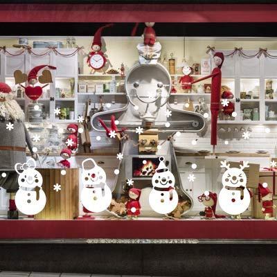 Hihey kerstdecoratie raamsticker kerstman elk afneembare kerststicker venster kerstdecoratie muursticker kerst stmis statisch hechtende PVC sticker 12