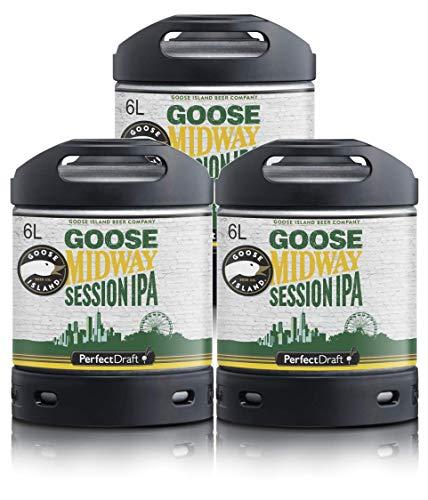 Bier PerfectDraft 3 x 6-Liter Fässer Goose Island Midway IPA Bier - Session IPA. Zapfanlage für Zuhause. Inklusive 15euros Pfand.