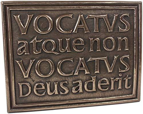 Wild Goose Celtic Vocatus Atque Non Vocatus Bronze Plaque