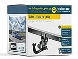 Weltmann 7D100002 geeignet für KIA Rio IV (YB) - Abnehmbare Anhängerkupplung inkl. fahrzeugspezifischer 13-poliger Elektrosatz