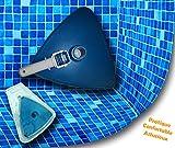 Tête de balai aspirateur piscine en triangle - Brosse spéciale liner - Tête d'aspiration lestée