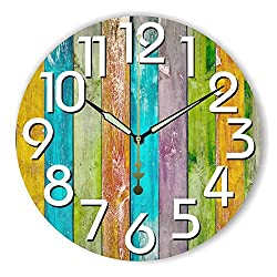 Modern Home Decoration Watch Wall Warranty 3 Years Silent Large Decorative Wall Clock Modern Design for Living Room Wall Decor,Style 3,12inch 30cm