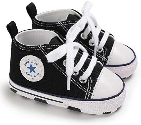 Chennie 0~12M Infant Newborn Baby Boy Girls Canvas Star High Top Sneaker Denim Shoes