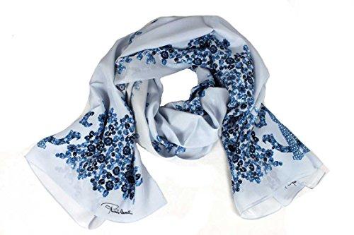 Roberto Cavalli Damen Schal Scarf im Geschenkbox Made in Italy 2b690 blau