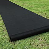 Becko Black New Garden Weed Barrier Landscape Fabric, 80g Heavy Duty Foldable Horticultural Pad for...