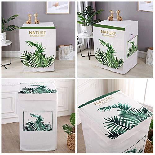 Waschmaschinen-Abdeckung, wasserdicht, grün, Sonnenschutz, dicker Stoff, Design für einfache Verwendung, Staubschutz, 60 x 55 x 85 cm