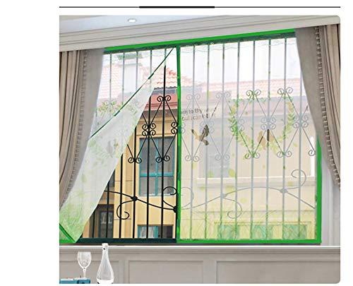 Striscia, zanzariera magnetica per finestra, in poliestere resistente, anti-zanzare, scatola con adesivi magici per finestre, adatto per famiglia, ufficio, hotel, finestre, 200 x 180 cm