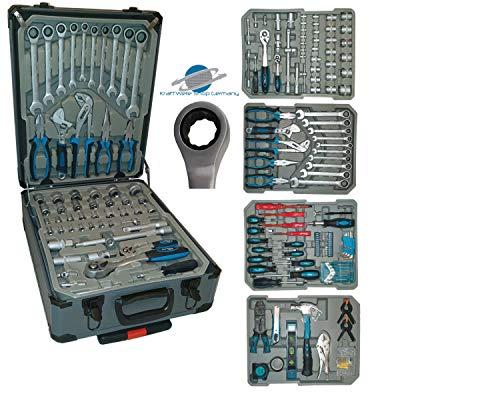 Kraftwelle Werkzeugtrolley Werkzeugkoffer 188 teilig Knarren Ratschen