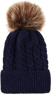 LENXH Warm Knitted Wool Ball Cap Infant Models Headgear Twist Wool Cap Baby Cotton Cap