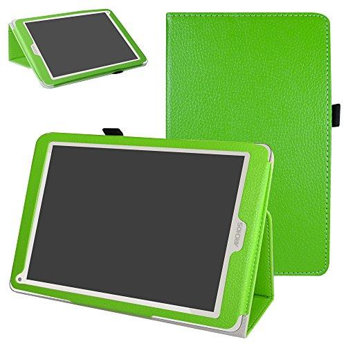 Mama Mouth Archos 97C Platinum Funda, Slim PU Cuero con Soporte Funda Caso Case para 9.7' Archos 97C Platinum Android 6.0 Tablet PC,Verde