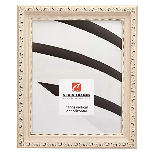 Craig Frames Ancien Ornate Picture Frame, 16 x 20 Inch, Off-White