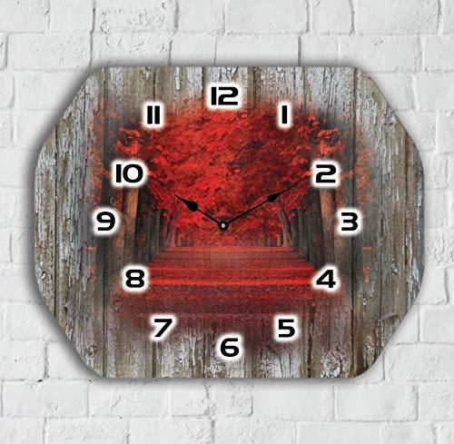 Color Agile Shabby Wanduhr leise quarzuhr aus Holz Vintage Antike Designe Shabby Wanduhr leise quarzuhr aus Holz wanduhr ohne tickgeräusche