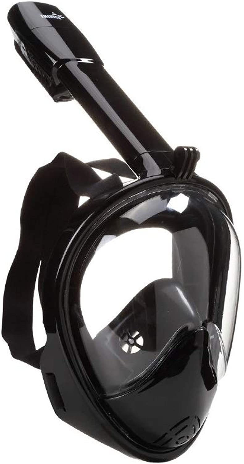 FYLDKFLM Full face Anti-Fog and Leak-Proof Diving mask 180 Degree Viewing Area and Action Camera Bracket.