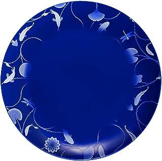 ZENS Dinner Plates 12 Inch, Bone China Blue Round Dinnerware, Fine Porcelain Floral Serving Dish for Steak, Pasta Wedding Housewarming Gifts