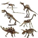 6 Pcs Dinosaur Skeletons, Assembly Dinosaur Toys for Boys and Girls, 3D Puzzle Dinosaur Model for Kids Age 6+ Dinosaur Gift, Festival Gift, Dinosaur Theme Party, Birthday Gift