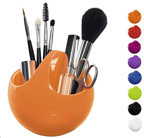 Spirella Kosmetikorganizer Bowl Aufbewahrungsbox für Make Up und Schmuck 10,5x9,5cm Orange