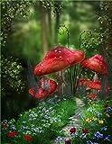 Puzzle De 1500 Piezas Para Adultos Árbol De Setas Rojas Obra De Arte De Juego De Rompecabezas Para Adultos Adolescentes Rompecabezas De Piso De Impresión De Alta Definición Multicolor