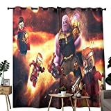 Decoración moderna para sala de estar del hogar Vengadores Infinity War Mini Edition Se utiliza para oscurecer cortinas opacas en la habitación de aislamiento térmico de 42 x 54 pulgadas