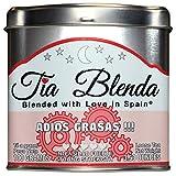 TIA BLENDA - ADIÓS GRASAS (100 g) - Mezcla Exclusiva de TÉ ROJO PU-ERH Imperial de alta calidad, JENGIBRE y CANELA. Té en hojas. 40 - 50 tazas. Presentación premium en lata. Loose Tea Caddy.