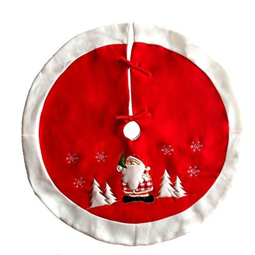 ShiyiUP Kreative Weihnachtsbaum Rock Weihnachtsbaumdecke Christbaum Tannenbaum Dekoration