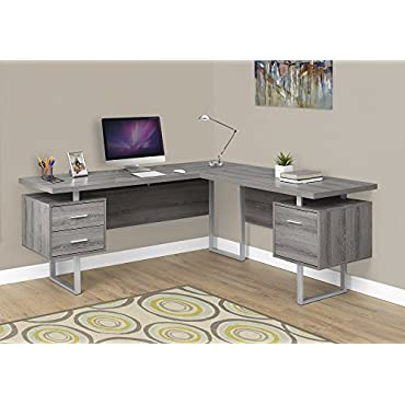 Monarch Specialties Computer Desk Left or Right Facing Dark Taupe 70L