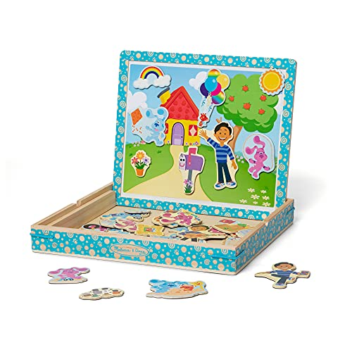 Melissa & Doug Blue s Clues & You! Wooden Magnetic Picture Game (48 Pieces)