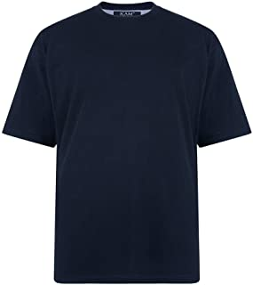 Kam Pure Cotton/Cotton Rich Plain Tee Shirt in Size 2XL to 8XL, Multiple Colors