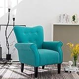 Simhoo Ohrensessel,Loungesessel mit Modernes Leinengewebe, Sessel Polstersessel für Wohnzimmer Schlafzimmer,Grün