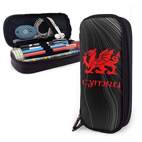 ZWHSY Wales Welsh Dragon Yard Flag Estuche de lápices de