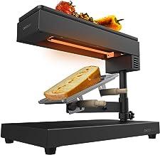 Cecotec Raclette traditionnelle Cheese&Grill 6000 Black. Puissance de 600W, Fonction gril, Acier inox, 2 Spatules en Bois,...