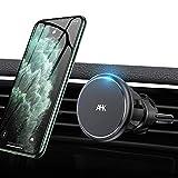 車載ホルダー マグネット スマホスタンド 車用 携帯ホルダー 360度回転 片手脱着 スマホホルダー 車 超強磁力 エアコン吹き出し口用 多機種対応 iPhone SE/iPhone 11 Pro Max/11/XS MAX/XS/XR/Xなど対応