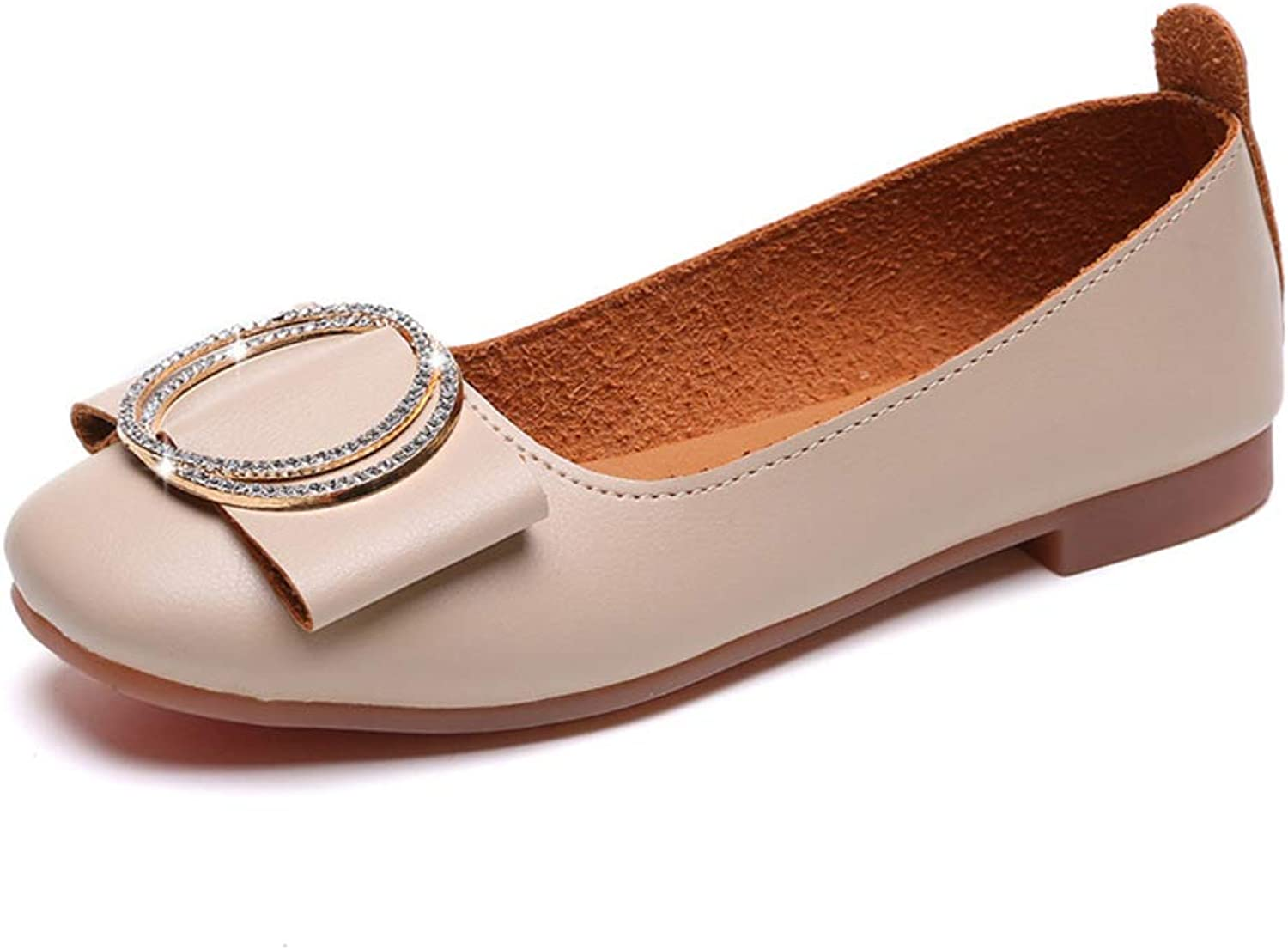Flats Women's Casual shoes Spring and Autumn Metal Buckle Casual shoes