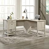 Sauder Edge Water L-Shaped Desk, L: 59.06' x W: 58.74' x H: 29.57', Chalked Chestnut