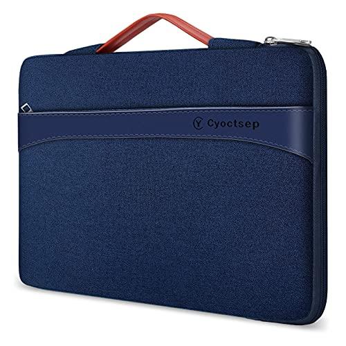 Cyoctsep 13-14 Pulgadas Funda portátil, Bolso Protectora para portátil con Bolsillo para Accesorios asa, Compatible con MacBook Air / MacBook Pro de 13,3', Thinkpad Lenovo IdeaPad de 14' DELL ASUS HP