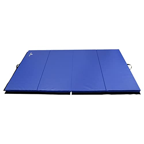 Alpha Mats Folding Gymnastics and Exercise Mat, PU Material & EPE Foam, Perfect for