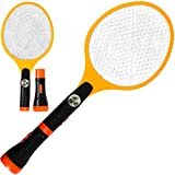 Creatov Electric Fly Swatter Racket Zapper - Mosquito Bug Fly Electric Killer with Rechargeable Battery Fly Swatter Electric Tennis Racket Insects Zappers