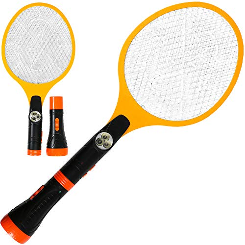Creatov Electric Fly Swatter Racket Zapper - Electric Killer with Rechargeable Battery Fly Swatter Electric Tennis Racket