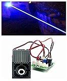 12V industria/laboratorio Laser 450nm 1000mW 1W Modulo a puntali laser blu del diodo w/TTL & adattatore & lavoro lungo tempo
