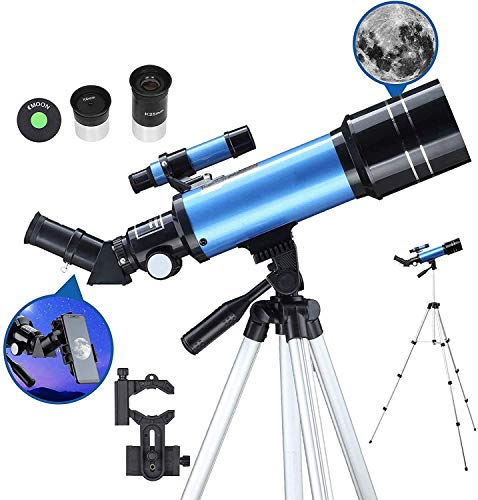 Telescope for Adults Astronomy Beginners 70Mm Refractor Telescopes with Adjustable 51 Inch Tripod Phone Adapter Erect-Image Diagonal and Moon Filter SZWHO