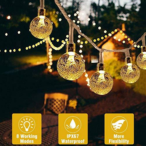 Catena Luminosa, Beexcellent Luci di Natale Stringa 30 LED IP65 Impermeabile 7m Telecomando Timer per Interni e Esterni Halloween Casa Matrimonio Terrazza, 8 Modalità