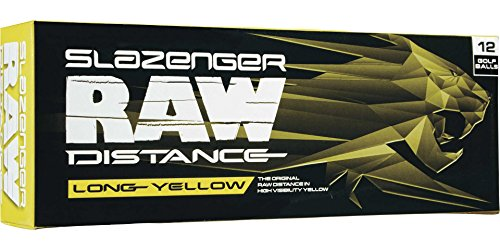 Slazenger 2017 Raw Distance Golf Balls (Long Yellow)