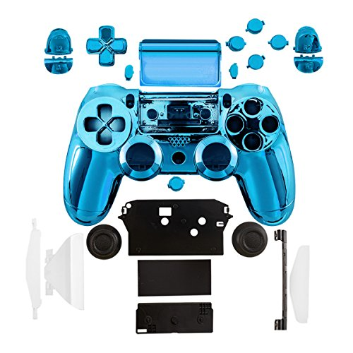 kwmobile Carcasa control de consola compatible con Playstation Controlador de PS 4 (1. Gen) en azul